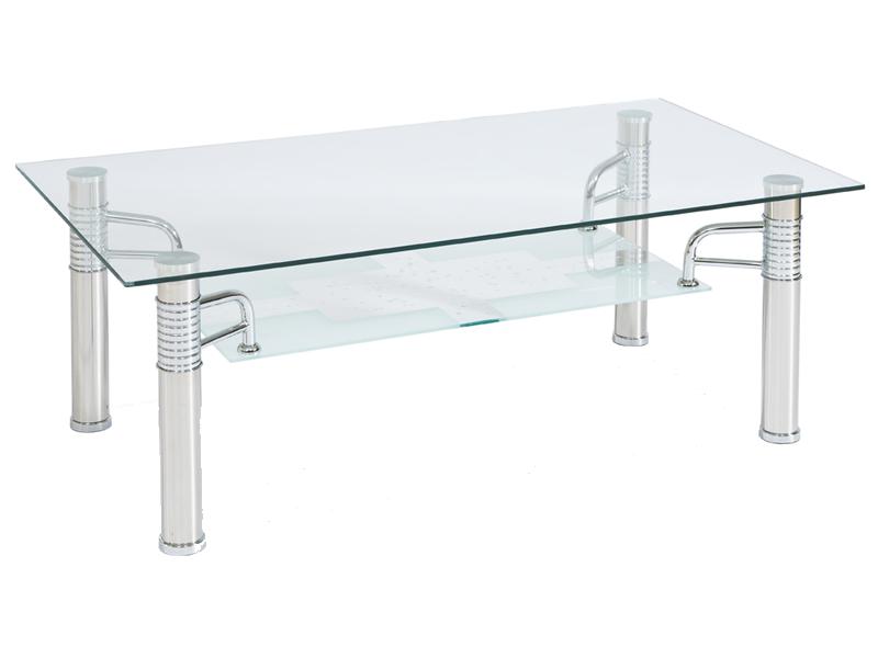 Журнальний кофейний стіл зі скла у вітальню Reni B II 55 Signal