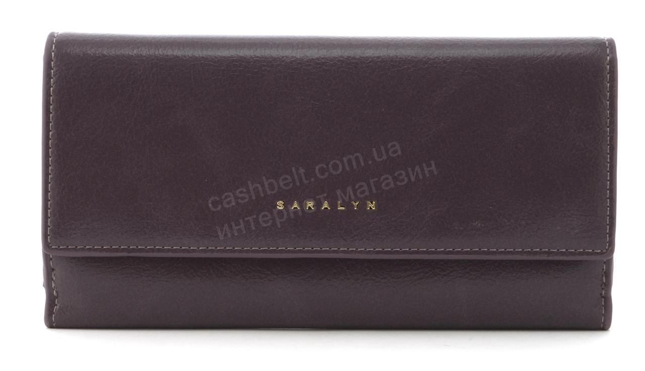 Прочный многофункциональный женский прочный кошелекэко кожиSARALYN art. J-1206 фиолетовый