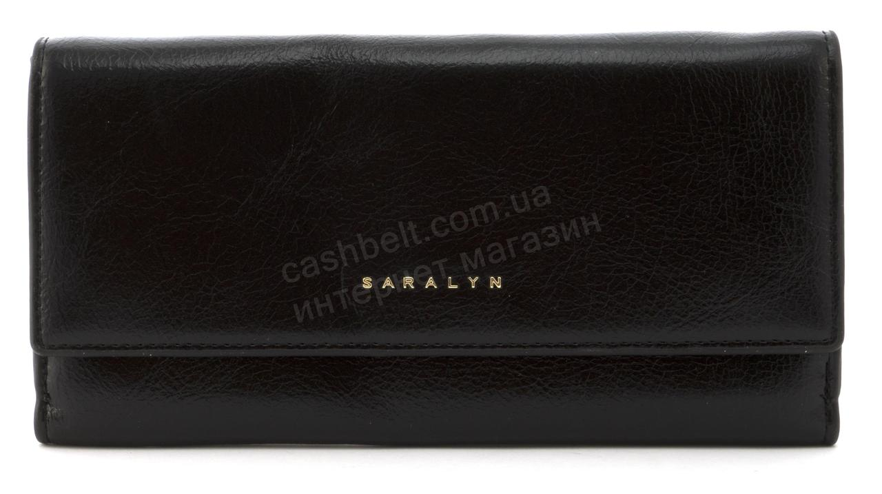 Прочный многофункциональный женский прочный кошелекэко кожиSARALYN art. J-1206 черный