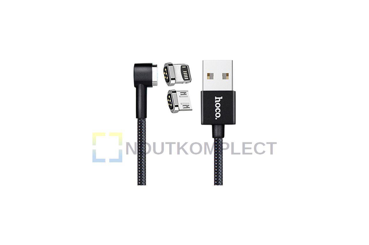 Кабель Lightning+Micro-USB Hoco - U20 1 м Black