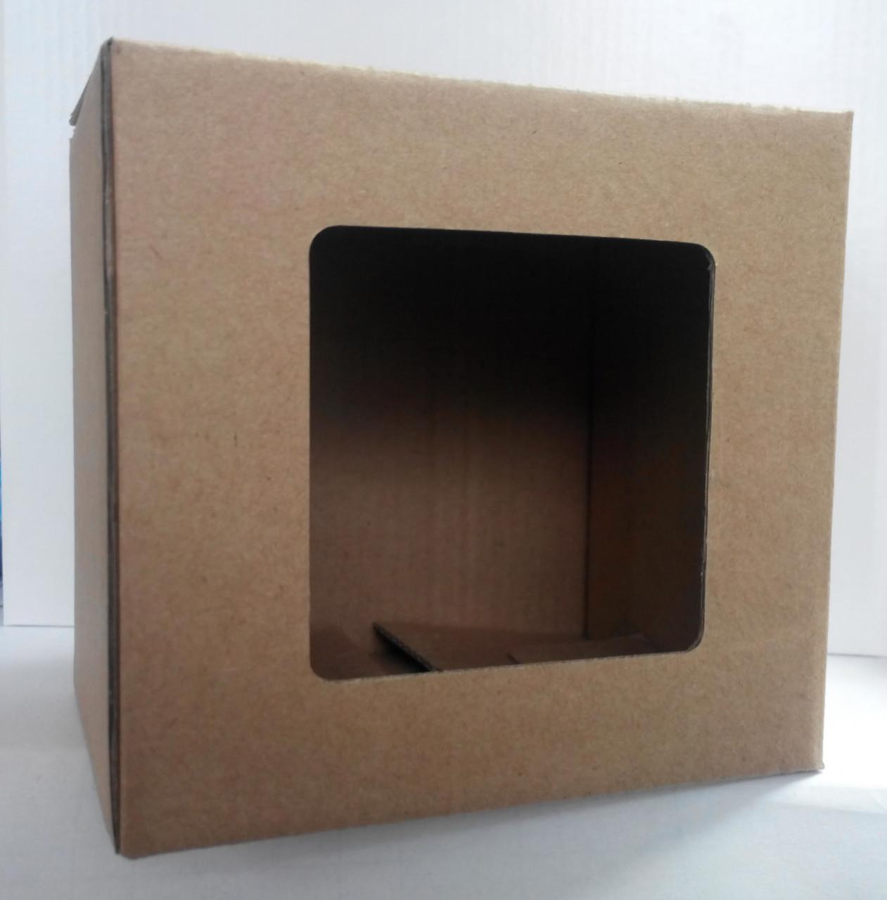 Подарочная коробка для чашки , коричневая