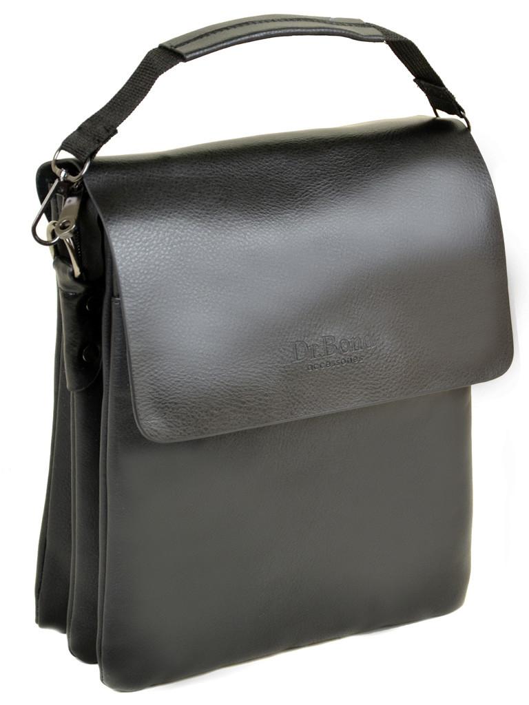 Мужская сумка планшет через плечо иск-кожа DR. BOND 304-3 black