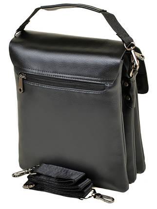 Мужская сумка планшет через плечо иск-кожа DR. BOND 304-3 black, фото 2