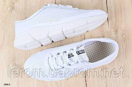 Летние кроссовки мужские из натуральной кожи белые