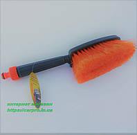 Щетка для мойки автомобиля с подачей воды и распушённой щетиной., фото 1