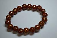 Браслет с магнитными шариками (коричневый)