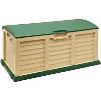 Садовый домик, гараж, Ящик, шкаф для хранения садовый Fieldmann Садовая коробка (FDD1001G)
