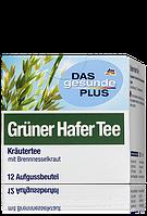 Органический чай из травы зеленого овса Das gesunde Plus Grüner Hafer