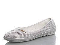 Летние серебристые туфли низкий ход большого размера 41