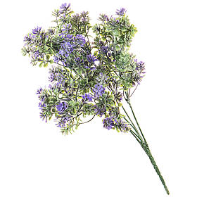 Искусственный цветок ветка с напылением 35 см  (058FW)