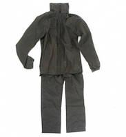 Костюм дождевик непромокаемый черный (куртка-брюки), Нейлоновый костюм непромокаемый, Костюм от дождя