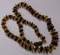 Контрастные бусы из натурального янтаря, фото 1