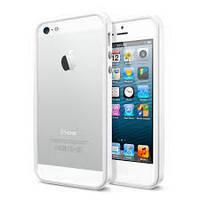 Бампер SGP Spigen Neo Hybrid EX для iPhone 5 белый