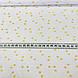 Хлопковая ткань ЛЮКС золотые (глиттер) звезды на белом, фото 4