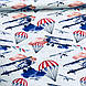 Бавовняна тканина польська літаки, парашути, хмари на світло-м'ятному, фото 2