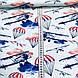 Бавовняна тканина польська літаки, парашути, хмари на світло-м'ятному, фото 3