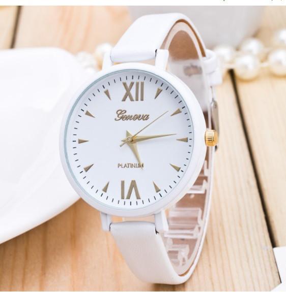 Женские часы Geneva Jelly Candy на ремешке из экокожи белые