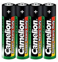 Батарейка Camelion R03 Green 4шт./уп. плёнка