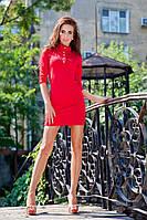 Платье мини с погонами и пуговицами(в расцветках) 541