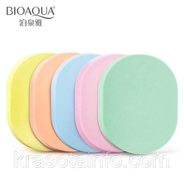 Набор спонжей для нанесения/снятия макияжа, для лица из латекса - 5шт bioaqua