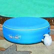 Аэромассажный мини бассейн СПА Lay-Z-Spa Bestway 54100 ( 206х71 см) цвет — голубой, фото 2