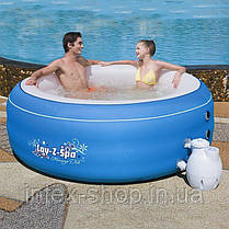Аэромассажный мини бассейн СПА Lay-Z-Spa Bestway 54100 ( 206х71 см) цвет — голубой, фото 3