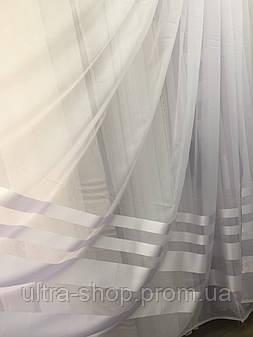 Тюль шифоновая с атласной полосой SEDEF