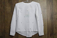 Шифонова блузка для дівчаток. 98 - 116 зростання.