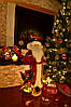 Дед Мороз 53 см в бордовой шубе с золотым узором 0454, фото 3