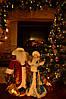 Дед Мороз 53 см в бордовой шубе с золотым узором 0454, фото 5