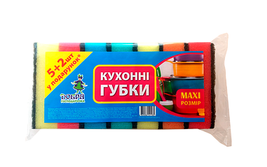 Губка кухонная Добра Господарочка 5+2 шт (MAXI)