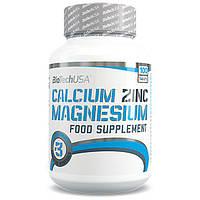 BioTech USA Calcium Zinc Magnesium (Ca-Mg-Zn) 100 tabs