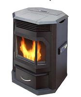 Пеллетная печь каминного типа 6,5кВт с автоматической подачей топлива