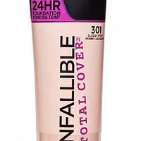 Тональный крем для лица L'Oreal Infallible Total Cover 24HR Foundation 30 ml.