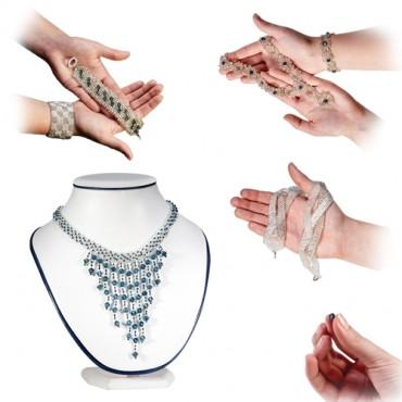набор для изготовления бус сережек браслетов Jewellery Beading Kit