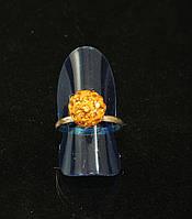 Кольцо шамбала,желтое