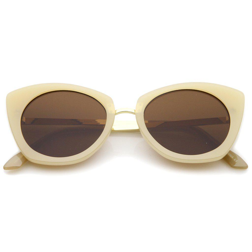 Женские солнцезащитные очки Сat eye с коричневыми линзами