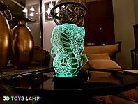 """Детский 3d светильник """"Кобра"""" 3DTOYSLAMP, фото 1"""