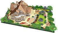 3D прототип частного дома с участком