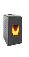 Пеллетная печь каминного типа 24кВт с автоматической подачей топлива