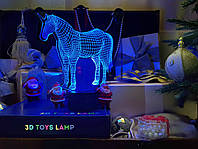 "3D светильник ночник ""Единорог"" 3DTOYSLAMP, фото 1"