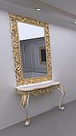 Зеркало резное в золотой раме MIRROR 003, фото 1