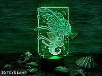"""Детский ночник - светильник """"Морской конек"""" 3DTOYSLAMP, фото 1"""
