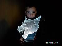 """Детский ночник - светильник """"Волк 3"""" 3DTOYSLAMP, фото 1"""