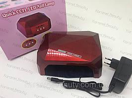 Лампа для маникюра Diamond  36Вт Красная