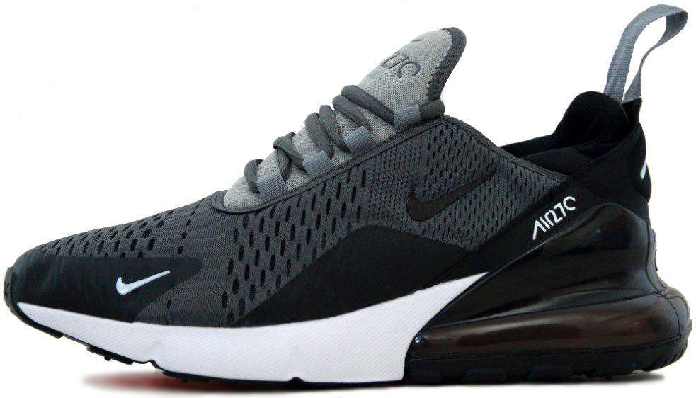 ff0e28a1 Мужские кроссовки Nike Air Max 270 Black/Grey (Найк Аир Макс) черно ...