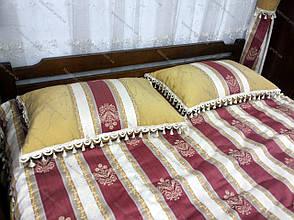 Кровать двуспальная деревянная из массива ольхи Ольга  Микс мебель, цвет орех / каштан, фото 2