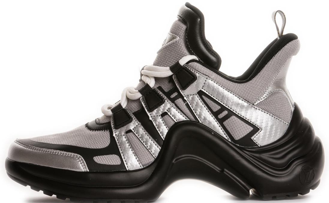 Женские кроссовки Louis Vuitton LV Archlight Grey/Black (Луи Витон) серые с черным