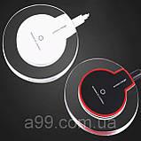 Зарядное устройство беспроводное Crystal Pad Q7 5V 1A белое, фото 2
