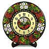 Часы деревянные. Калинове диво. Украинский сувенир. Петриковская роспись.
